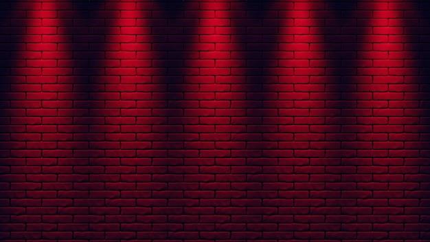 Priorità bassa della luce al neon del muro di mattoni