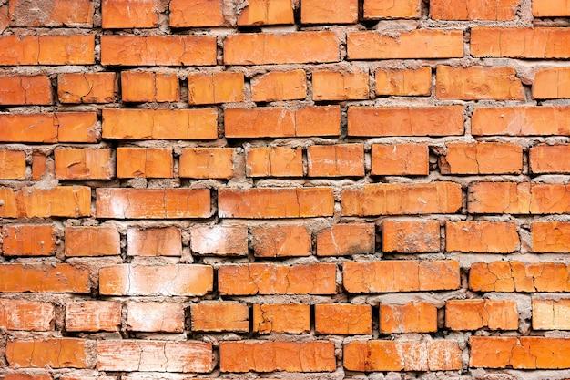 Struttura del mattone rosso del muro di mattoni di vecchia muratura del fondo di lerciume del muro di mattoni