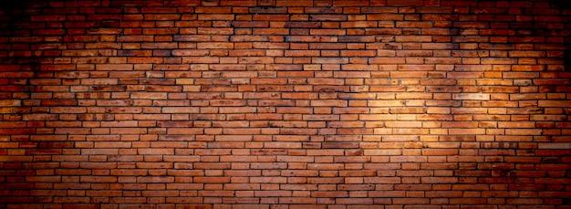Muro di mattoni di ampio panorama rosso. priorità bassa di vecchio muro di mattoni dell'annata