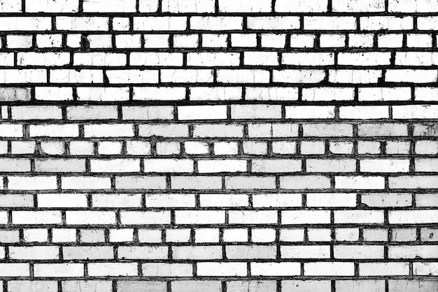 Muro di mattoni texture di sfondo. texture di mattoni con graffi e crepe