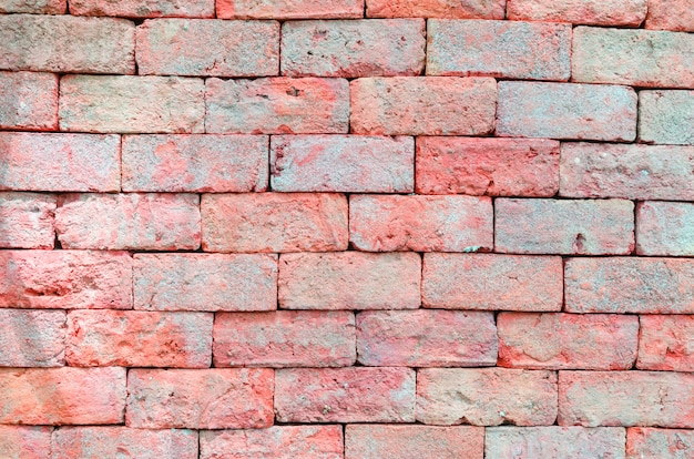 Fondo di lerciume di struttura del muro di mattoni con gli angoli vignetted dell'interno