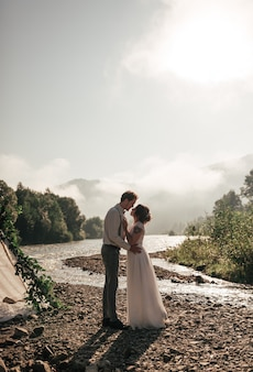 Sposa e sposo. novelli sposi. sposi.
