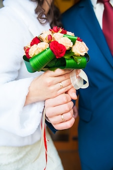 Sposa e sposo insieme