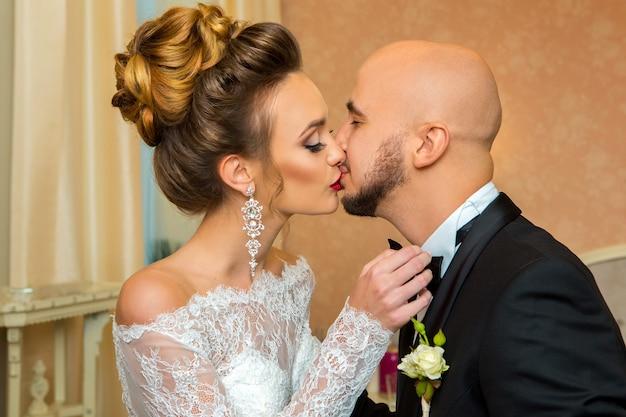 Sposa e sposo il giorno del matrimonio