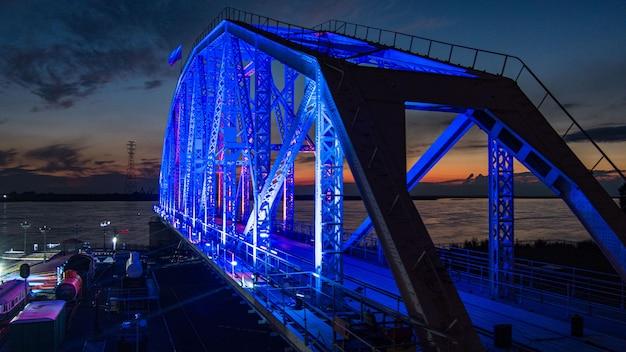 Museo del ponte del progetto del ponte ferroviario storico sul fiume amur