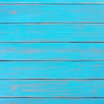 Ponte estivo in legno blu brillante