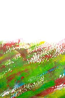 Sfondo colorato luminoso di vernici liquide linee colorate luminose. pennellate di linea rossa verde blu brillante su sfondo bianco con pennellate. vernici liquide su tela. colpi di schizzi in primo piano