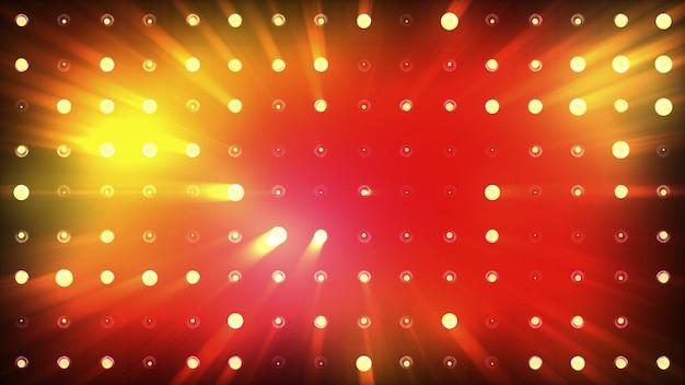 Inondazioni luminose di luce arancione lampeggiano molto intensamente