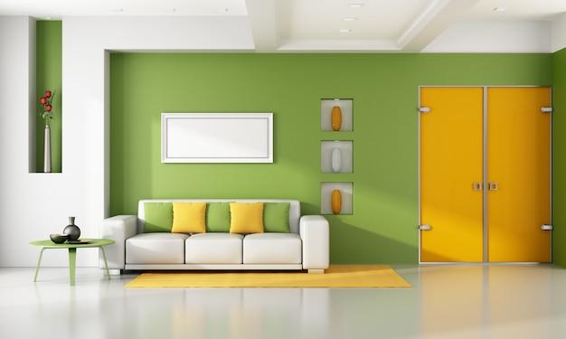 Luminoso soggiorno moderno