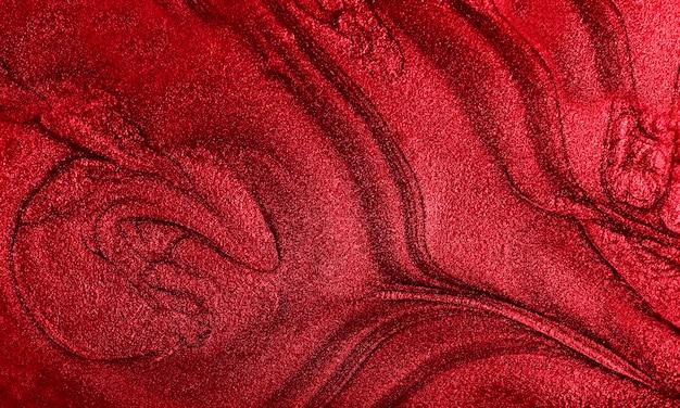 Sfondo di marmo rosso brillante. texture di vernice a strisce. sfondo moderno di flusso. concetto minimalista. copia spazio per il design.