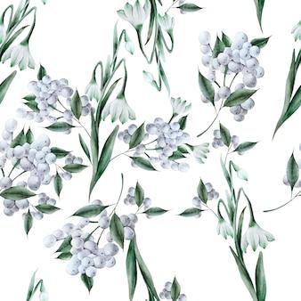 Modello senza cuciture luminoso con fiori. illustrazione dell'acquerello. disegnato a mano.