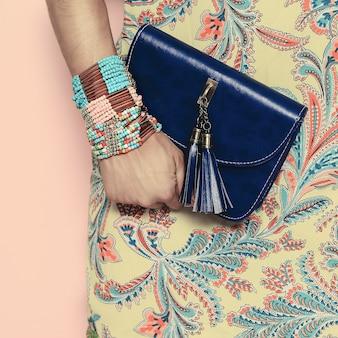 Bright summer oriental pattern gioielli di moda e accessori lady.
