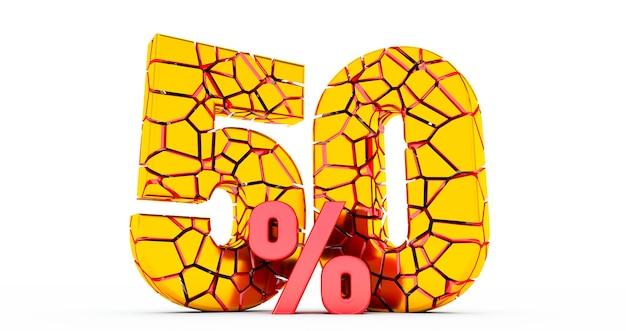 Sconto del 50 per cento rotto