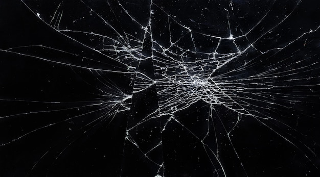 Trama di vetro rotto