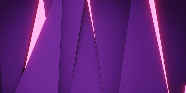 Illustrazione 3d del fondo astratto del triangolo d'ardore rotto