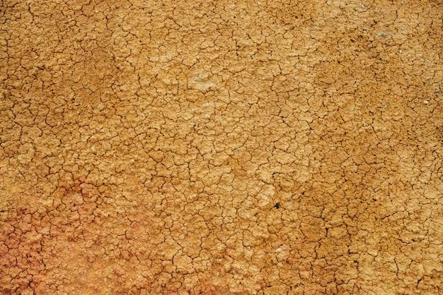 Fondo giallo rotto del suolo asciutto
