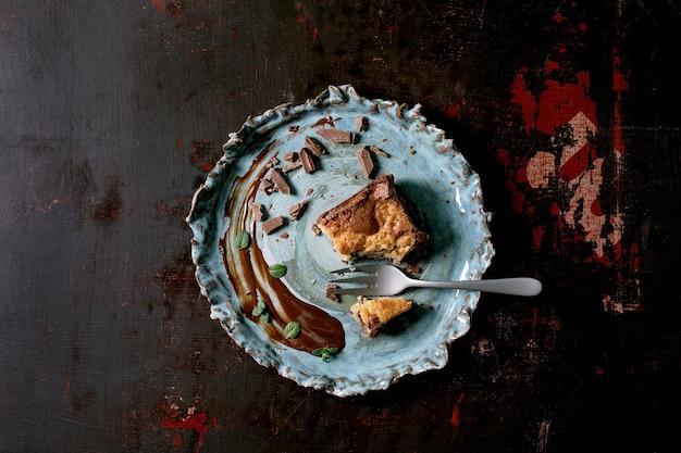 Torta di biscotti e brownies brookies
