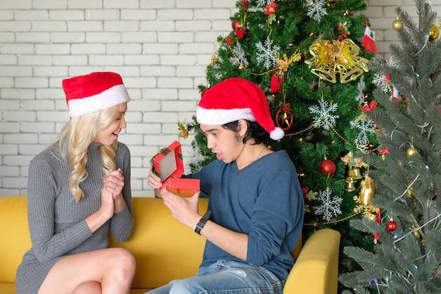 Fratelli e sorelle fanno regali a natale