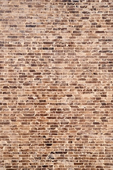 Primo piano del muro di mattoni marrone e nero