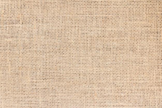 La trama del sacco di tela marrone può essere utilizzata come sfondo