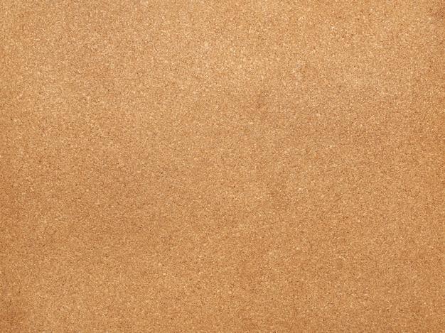 Struttura del bordo di sughero marrone per adesivi, telaio completo, da vicino
