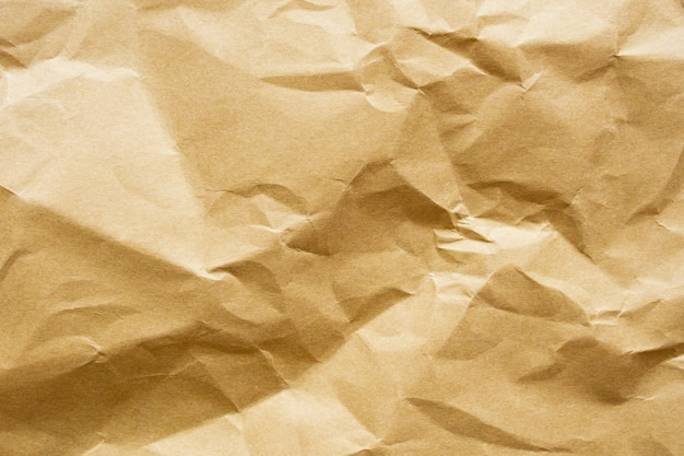 Priorità bassa di struttura del foglio kraft riciclato carta sgualcita marrone