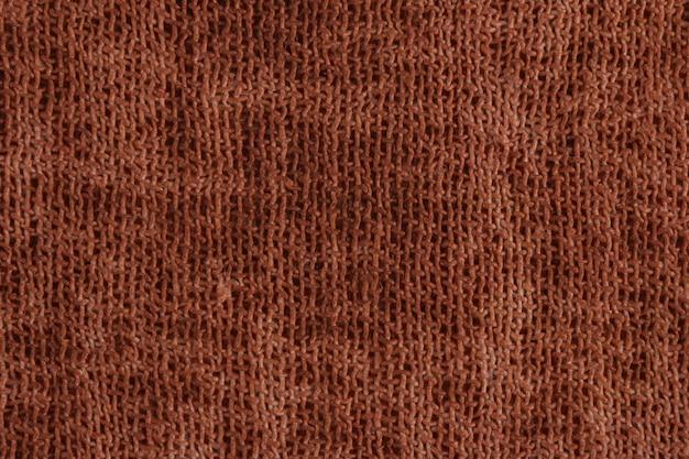 Dettaglio in fibra di tessuto marrone.