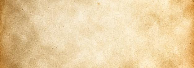 Sfondo di banner grunge marrone con una trama di carta vintage e con una copia dello spazio