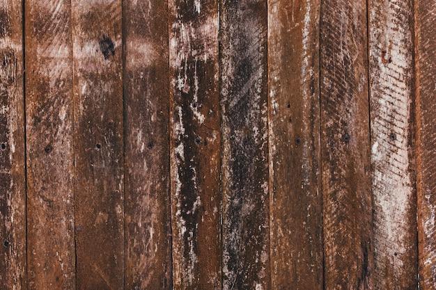 Recinzione in legno vecchio marrone. vecchia struttura di tavole