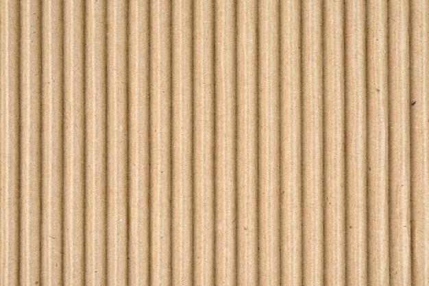 Scatola di carta marrone o struttura o fondo del foglio di fibra di cartone ondulato