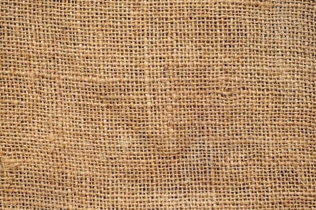 Struttura e fondo della tela di sacco di brown.