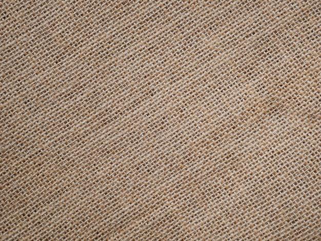 Trama di tela di sacco marrone per lo sfondo