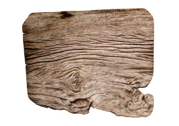 Tavola di legno marrone isolata su sfondo bianco. il percorso di ritaglio include in questa immagine.