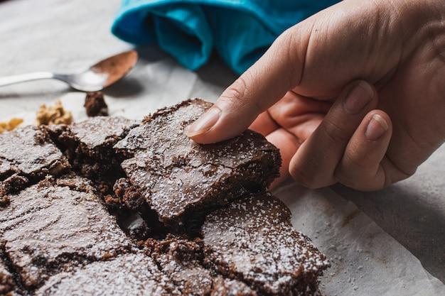 Primo piano del brownie