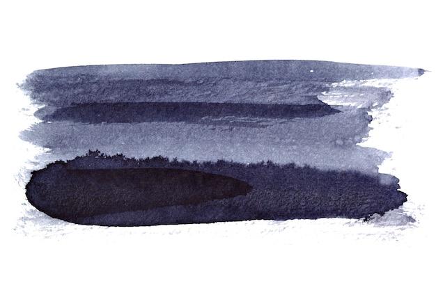 Tratto di pennello isolato su uno sfondo bianco. elemento per il tuo design e spazio per un testo