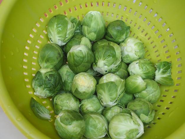 Cavolini di bruxelles cavoli verdure cibo