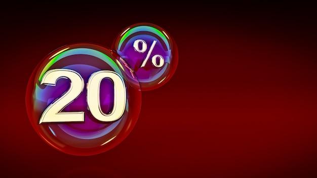 Bolle 20% rendering 3d