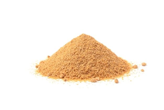 Farina di grano saraceno isolata.