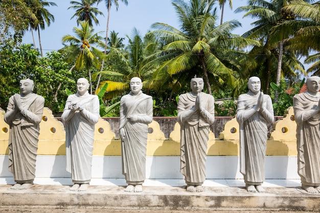 Statue di buddha in un tempio a ceylon, patrimonio unesco. cultura asiatica, religione del bubbhismo