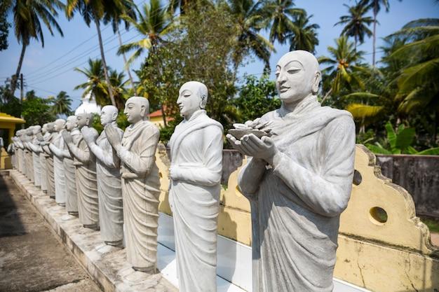 Statue di buddha in un tempio in sri lanka, ceylon. cultura asiatica