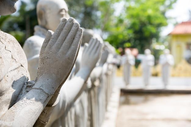 Statue di buddha in un tempio sul primo piano dello sri lanka