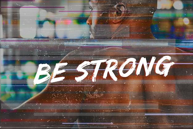 Costruisci il tuo fisico forza fitness esercizio ottieni il diritto