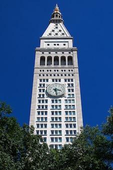 L'edificio in madison square a new york city, stati uniti