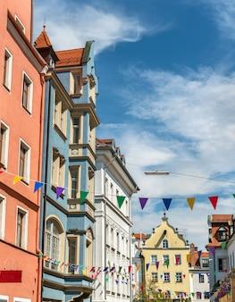 Edifici nella città vecchia di regensburg