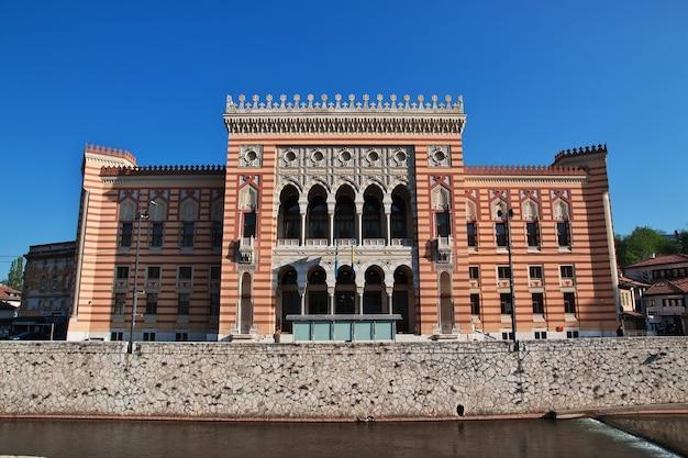 L'edificio nella città di sarajevo in bosnia ed erzegovina
