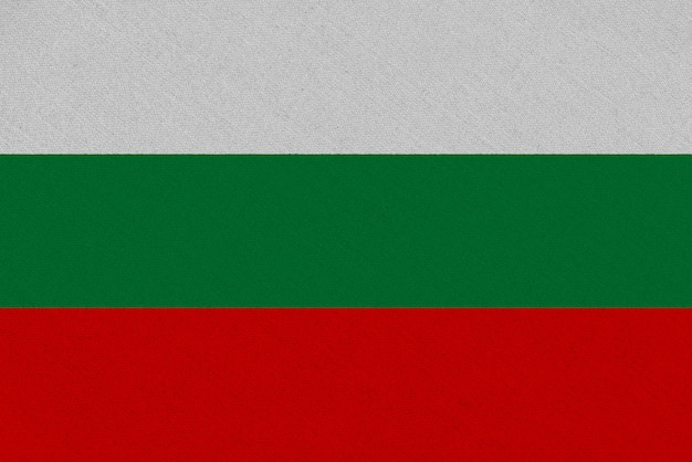 Bandiera tessuto bulgaria