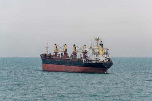 Nave portarinfuse. vista da poppa. bulker. nave da carico a secco.