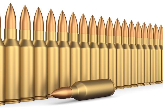 Proiettile su sfondo bianco. illustrazione 3d isolata