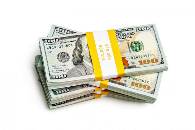 Pacco di 100 banconote in edizione 2013 di dollari usa