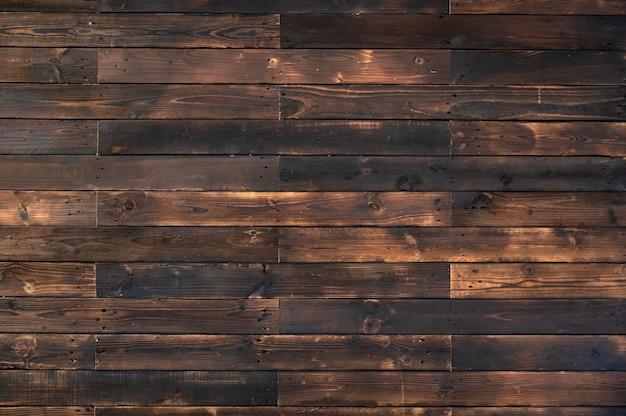 Priorità bassa di struttura naturale della plancia di legno scuro bruciato